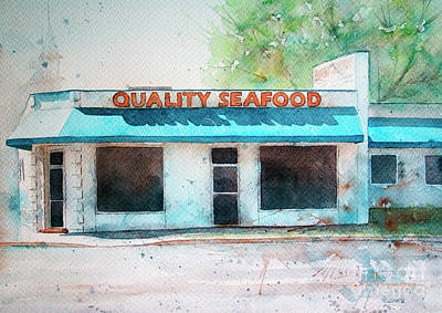 Painting - Quality Seafood by Rebecca Davis