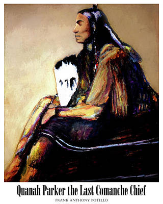 Painting - Quanah Parker The Last Comanche Chief II by Frank Botello