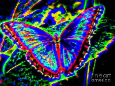 Quantum Butterfly Art Print