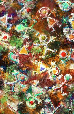 Atom Mixed Media - Quantum Humans by Miko At The Love Art Shop