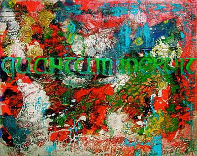 Legal Term Painting - Quantum Meruit by Laura Pierre-Louis