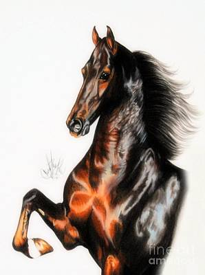 Painting - Quantum Of Solace Saddlebred Stallion by Cheryl Poland
