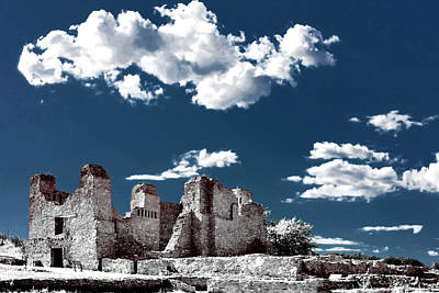 Quarai New Mexico - Infrared False Color Art Print by Christine Till