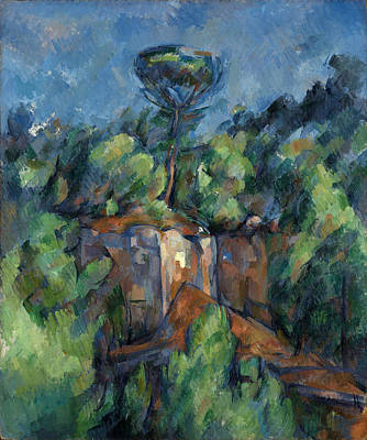 Painting - Quarry At Bibemus by Paul Cezanne