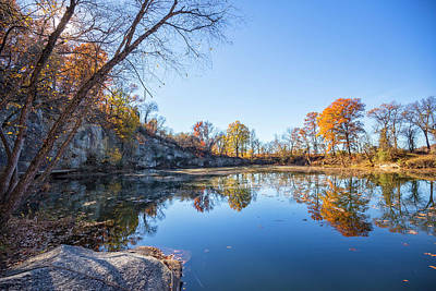 Photograph - Quarry Fall by Alan Raasch
