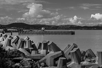 North Wales Digital Art - Quarry Jetty  by Chris Evans