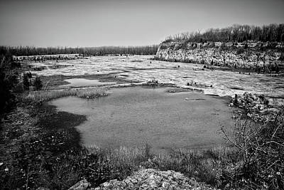 Photograph - Castalia Quarry Reserve Bw by Shawna Rowe