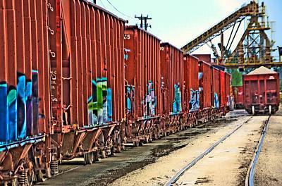 Quarry Train Art Print