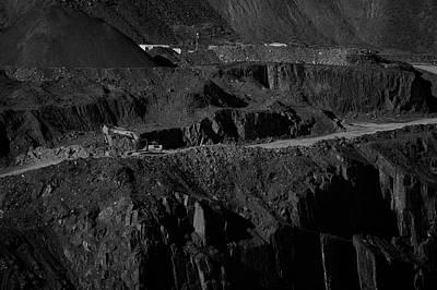 Photograph - Quarry Work by Keith Elliott