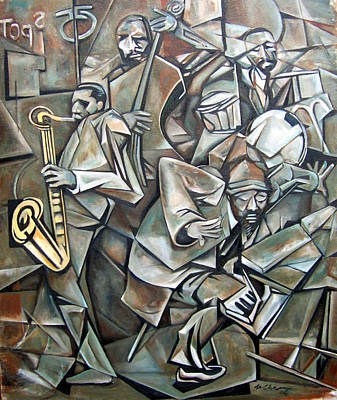Wall Art - Painting - Quartet 1958 by Martel Chapman