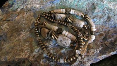 Jewelry - Quartz Agate #b030 by Barbara Prestridge