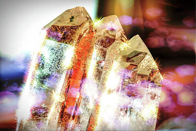 Photograph - Quartz Crystals In Morning Sun by Scott Carlton