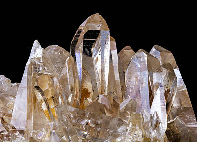 Mineral Photograph - Quartz Crystals by Jim Hughes