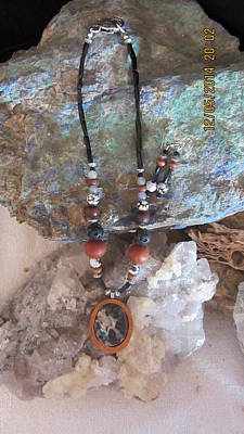 Mixed Media - Quartz Druzy Set In Gourd Wood #d55 by Barbara Prestridge
