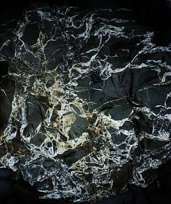Photograph - Quartz Veins Abstract 1 by Richard Brookes