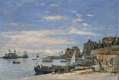 Villefranche Painting - Quay At Villefranche by MotionAge Designs