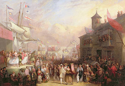 Party Scene Painting - Quay Fair by John Grenfell Moyle