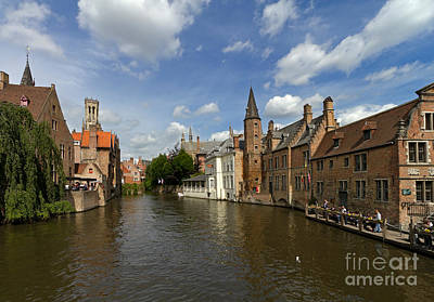 Quay Of The Rosary In Bruges Belgium Art Print by Louise Heusinkveld
