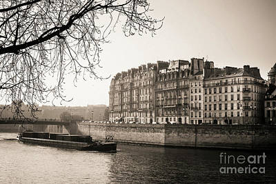 Quays Of The Seine And Ile Saint-louis. Paris. France. Europe. Art Print by Bernard Jaubert