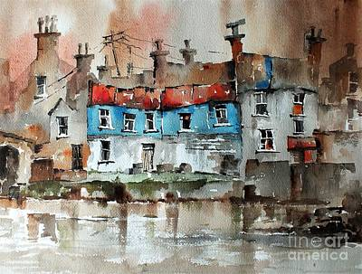 Quayside In Ennistymon Clare Art Print