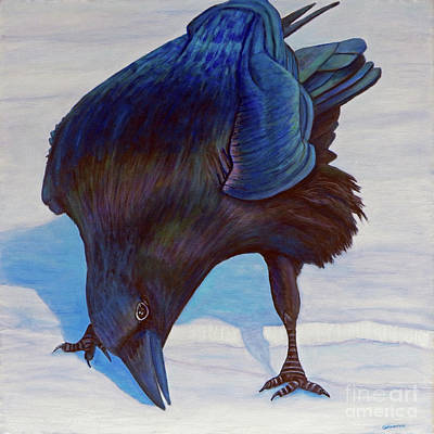 Raven Painting - Que Pasa by Brian  Commerford