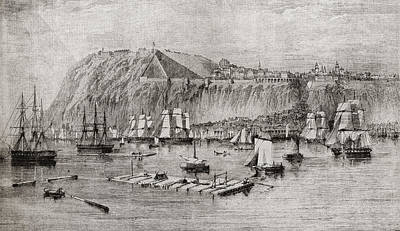 Quebec Drawing - Quebec, Canada In 1860. From Edward Vii by Vintage Design Pics