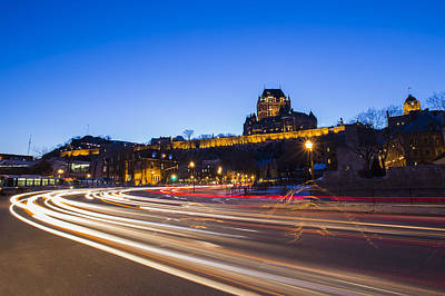 Photograph - Quebec City Blue Hour by Mircea Costina Photography