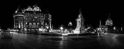Photograph - Quebec City Boardwalk At Night by Chris Bordeleau