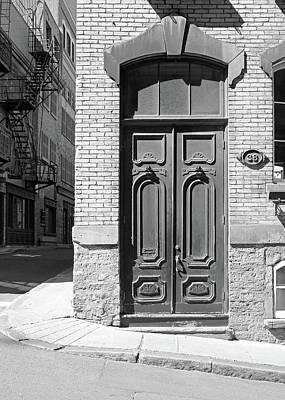 Street Photograph - Quebec City Doorway by Brooke T Ryan