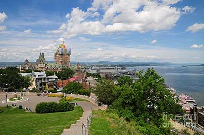 Photograph - Quebec City Landscape, Canada by Akshay Thaker-PhotOvation