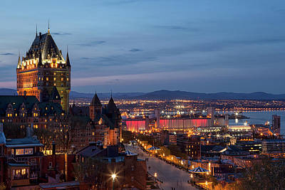 Photograph - Quebec City Lights by Eunice Gibb