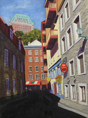 Painting - Quebec City Side Street by Alan Mager
