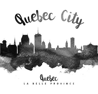 Quebec Cities Painting - Quebec City Skyline 18 by Aged Pixel