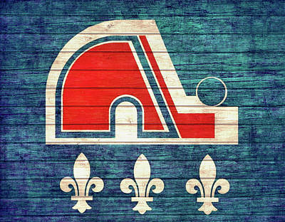 Mixed Media - Quebec Nordiques Barn Door by Dan Sproul