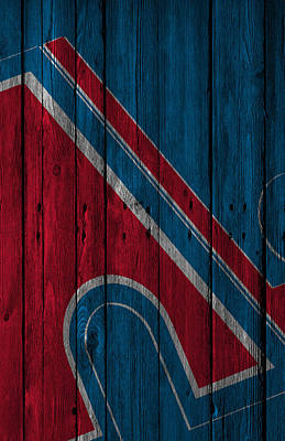 Digital Art - Quebec Nordiques Wood Fence by Joe Hamilton