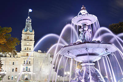 Photograph - Quebec Parliament Building by Songquan Deng