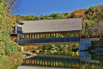 Photograph - Quechee Covered Bridge # 2 by Allen Beatty