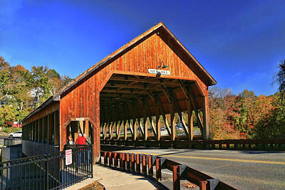 Photograph - Quechee Covered Bridge by Allen Beatty