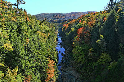 Photograph - Quechee Gorge by Allen Beatty