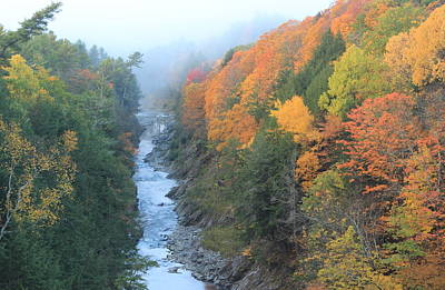 Photograph - Quechee Gorge Autumn Fog by John Burk