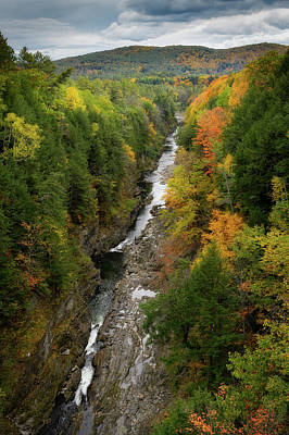 Photograph - Quechee Gorge Fall Vt by Michael Hubley