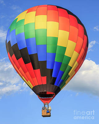 Soaring Photograph - Quechee Vermont Hot Air Balloon Fest 3 by Edward Fielding