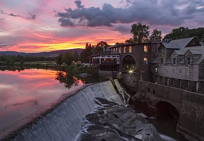 Photograph - Quechee Vermont Sunset by John Vose