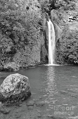 Photograph - Queda Do Vigario Waterfall In Monochrome by Angelo DeVal