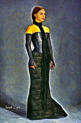 Natalie Portman Digital Art - Queen Amidala Dinner Costume - Da by Leonardo Digenio
