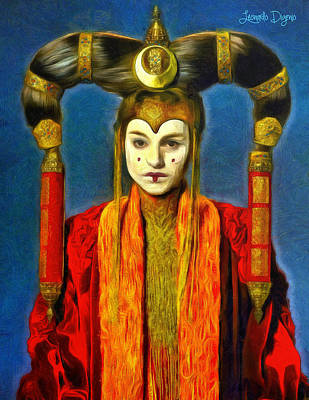 Senate Painting - Queen Amidala Senate Costume by Leonardo Digenio