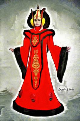 Death Painting - Queen Amidala Throne Room Costume by Leonardo Digenio