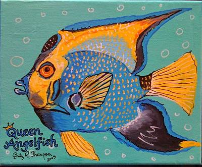Queen Angelfish Art Print by Emily Reynolds Thompson