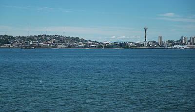 Photograph - Queen Anne Hill And Space Needle by Tom Cochran
