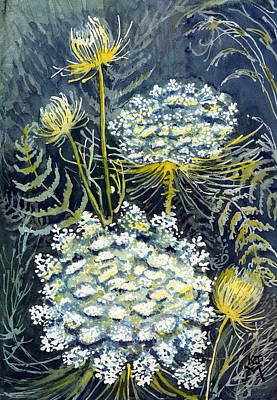 Painting - Queen Anne's Lace by Katherine Miller